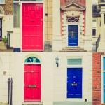 Retro look British doors — Stock Photo #49429841