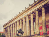 Retro look Altesmuseum Berlin — Stock Photo