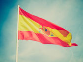 Retro look Flag of Spain — Stock Photo