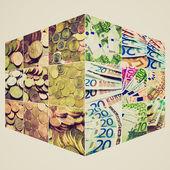 Kolaż pieniądze w stylu retro — Zdjęcie stockowe