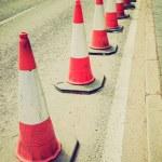 Retro look Traffic cone — Stock Photo #49452437