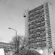 Black and white Trellick Tower in London — Stock Photo