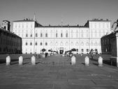 Black and white Palazzo Reale Turin — Stock Photo