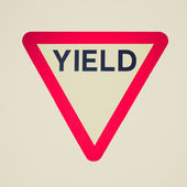 Retro look Yield — Stock Photo