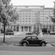 Постер, плакат: Black and white Karl Marx Allee in Berlin