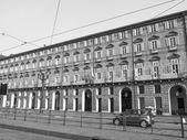 トリノの黒と白の劇場レジオ ロイヤル劇場 — ストック写真