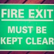 Retro look Fire exit sign — Stock Photo #49537451
