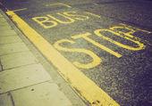 レトロな外観バス停 — ストック写真