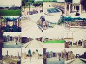 Retro look Pompeii, Italy — Stock Photo
