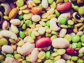 Retro look Beans salad — Stock Photo