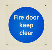 Retro look Fire door — Stock Photo