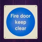 Retro look Fire door — Stock Photo #50916093