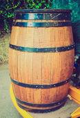 Retro look Barrel cask — Stock Photo