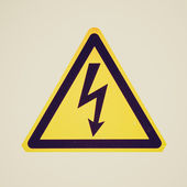 Retro look Danger of death Electric shock — 图库照片