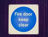 Retro look Fire door — Stockfoto
