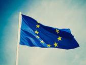 Retro look Flag of Europe — Stock Photo