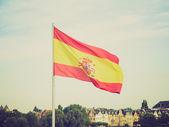 Retro look Flag of Spain — Stockfoto