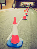 Retro look Traffic cone — Stockfoto