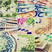 Retro look Money collage — Stock Photo