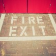 Retro look Fire exit sign — Stock Photo #51348619