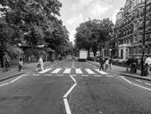 Black and white Abbey Road London UK — Stock Photo