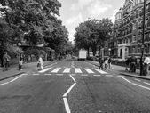 Black and white Abbey Road London UK — Stock Photo