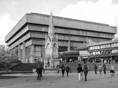 Black and white Birmingham Central Library — Stock Photo
