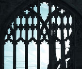 Ancient gothic window — Stock Photo