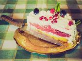 Retro look Pie cake — Stock Photo