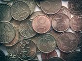 Retro look Euro coins — Photo