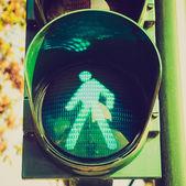 Retro look Green light — Stock Photo