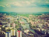Vista aérea de aspecto retro Berlín — Foto de Stock