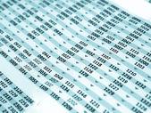 Timetable — Stock Photo