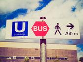 Retro look Ubahn sign — Stock Photo