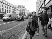 Black and white The Strand, London — Stock Photo