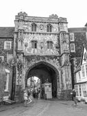 Black and white Canterbury UK — Stock Photo