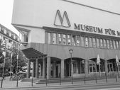 Black and white Museum fuer Moderne Kunst — Stock Photo
