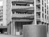 Black and white Barbican estate in London — Stock Photo