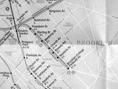 черно-белая карта метро нью-йорка — Стоковое фото