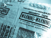 Warning - security tape — Stock Photo