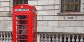 ロンドンの電話ボックス — ストック写真