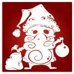 Santa silhouette — Stock Vector #36399843