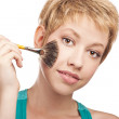 Young woman. makeup. studio — Stock Photo #12746011
