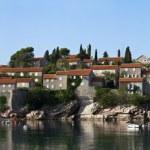 Постер, плакат: Sveti stefan island resort in montenegro