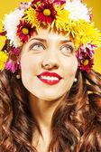 Portrait of cute woman. positive smile — Stock Photo