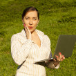 Young woman with laptop — Stock Photo #28715307