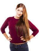 Attractive student with long hair — Stock Photo