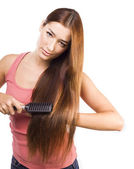 Woman with Healthy Long Hair. — Stock Photo