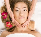 Girl on spa treatments — Stock Photo
