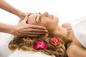 Spa, massage, woman — Stock Photo